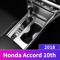 Car Interior Console Gear shift Panel Water Cup Holder Coffee Bottle Placement Cover Trim For Honda Accord 10th 2018 Accessories