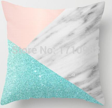 Two sides printing Real <font><b>Italian</b></font> Marble with Pink and Blue Pillow Cases for 12 '14' 16' 18' 20' 24'inch free shipping