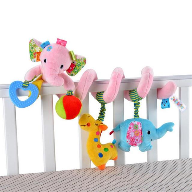 2016 Nueva Cama de Bebé Colgando de Juguetes Juguetes Del Traqueteo Del Bebé de La Manera Cochecito infantil Juguetes Lindo Elefante León Modelo Juguetes Cochecito de Bebé regalo