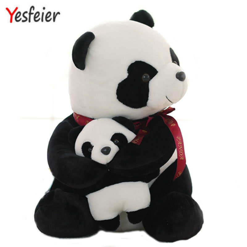 25cm small size mother and child panda Plush Toys cartoon bear stuffed plush animals doll birthday gift lovely giant panda about 70cm plush toy t shirt dress panda doll soft throw pillow christmas birthday gift x023