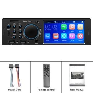 "Image 5 - AMPrime 1Din Autoradi 4.1"" TFT Car Stereo Radio Bluetooth FM Radio USB/AUX/ Remote Control Audio MP4 MP5 Player With Rear Camera"
