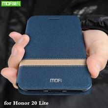 Cho Danh Dự 20 Lite Ốp Lưng Cho Huawei Honor 20 Lite Bao Lật Nhà Ở MOFI Honor20 Lite Coque TPU Da PU cuốn Sách Đứng Folio