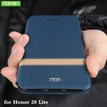 Funda de cuero para Huawei Honor 20 Lite, carcasa con tapa, MOFi Honor20 lite, Funda de cuero PU, soporte Folio