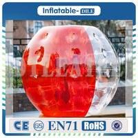 Бесплатная доставка 10 шт. (5 синий + 5Red + 1 насос) 1,2 м Диаметр надувной пузырь футбольный мяч для детей