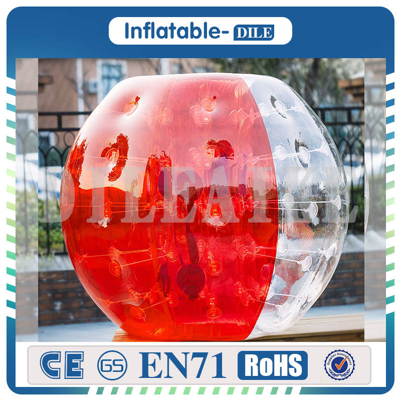 Free Shipping 10 PCS(5Blue+5Red+1Pump) 1.2m Diameter Inflatable Bubble Soccer Ball For Children
