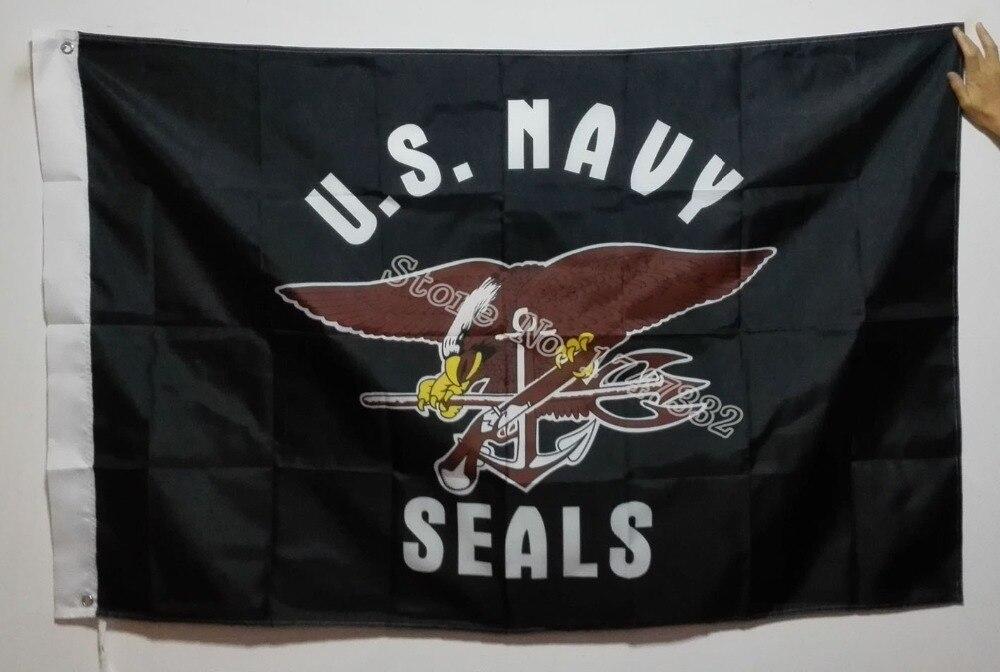 US U.S. Navy Seal Seals Flag hot sell goods 3X5FT 150X90CM Banner brass metal holes