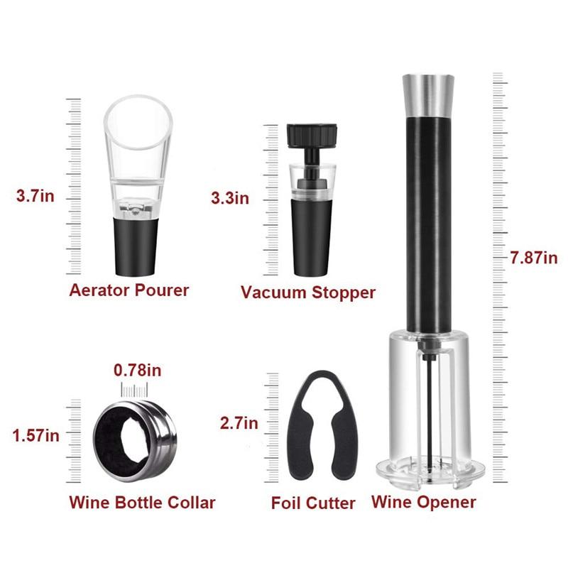 Wine Bottle Opener,Cork Out Tool GT Air Pump Wine Opener Wine Foil Cutter Wine Cork Remover Pump Air Pressure Wine Opener