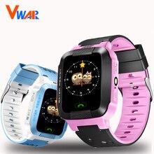"""Vwar VM75 дети GPS Tracker Смотреть Дети Смарт часы с Камера вспышка света 1.44 """"Сенсорный экран SOS вызова Расположение Finder для ребенка"""
