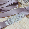 TOPQUEEN S211-4 Beading Sequins Applique Crystal Elegant Wedding Belt Bridal Sash Bridal Accessories