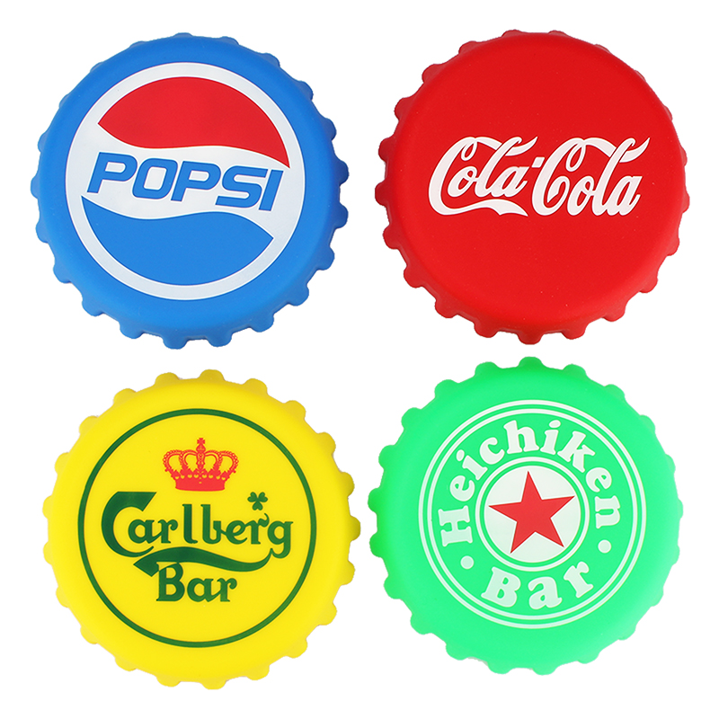 1pc Creative Sprite Coke Universal Silicone Lid Cover Water Bottle Cap Tumbler Mug Glass Cup Lid Soda Can Lid Kitchen Tools taza de m&m