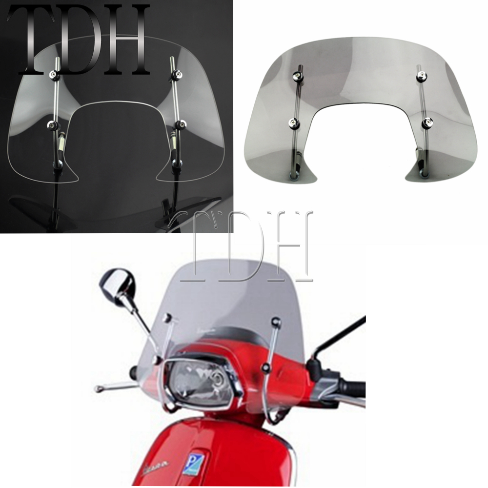 High Quality Methacrylate Motorcycle Clear 4mm Windshield Windscreen For Vespa SPRINT 150cc
