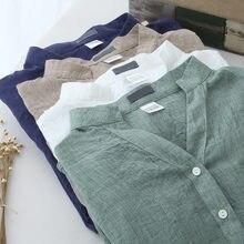 Summer Blouse Shirt Women Clothes Cotton Linen Casual Shirt