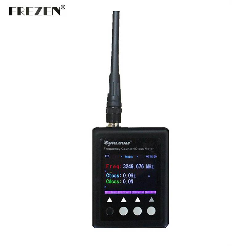 SURECOM Digital Radio Tester 27Mhz 3000Mhz Decoder Portable Frequency Counter For Walkie Talkie Sf401 Plus CTCSS