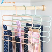 hot deal buy joyathome adult's 5 layers pants rack non-slip scarf tie belt pants storage rack hangers for wardrobe home storage