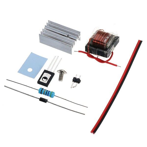 1Set DIY DC High Frequency High Voltage Arc Generator Inverter Boost Step-Up Transformer Suite