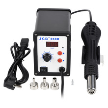 JCD Hot Air Gun 858D soldering station 110V 220V 700W LED Digital Heat air gun Solder Welding Repair rework SMD soldering iron arrival saike 952d rework station hot air gun soldering station 220v or 110v