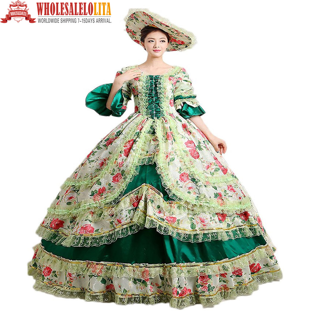 Popular 18th century wedding dresses buy cheap 18th for Period style wedding dresses