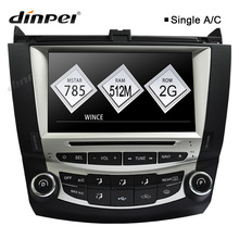Dinpei 8 Car DVD Player Multimedia for Honda Accord 7 2003 2004 2005 2006 2007 Radio GPS Navigation Stereo single AC WinCE6.0 7 touch screen car dvd stereo player for mazda3 mazda 3 2004 2005 2006 2007 2008 2009 bluetooth radio gps navigation system