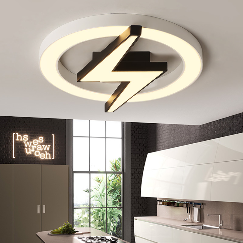 Creative bedroom ceiling light personality lightning round Nordic style led ceiling lamp romantic children room lamp ZA11872