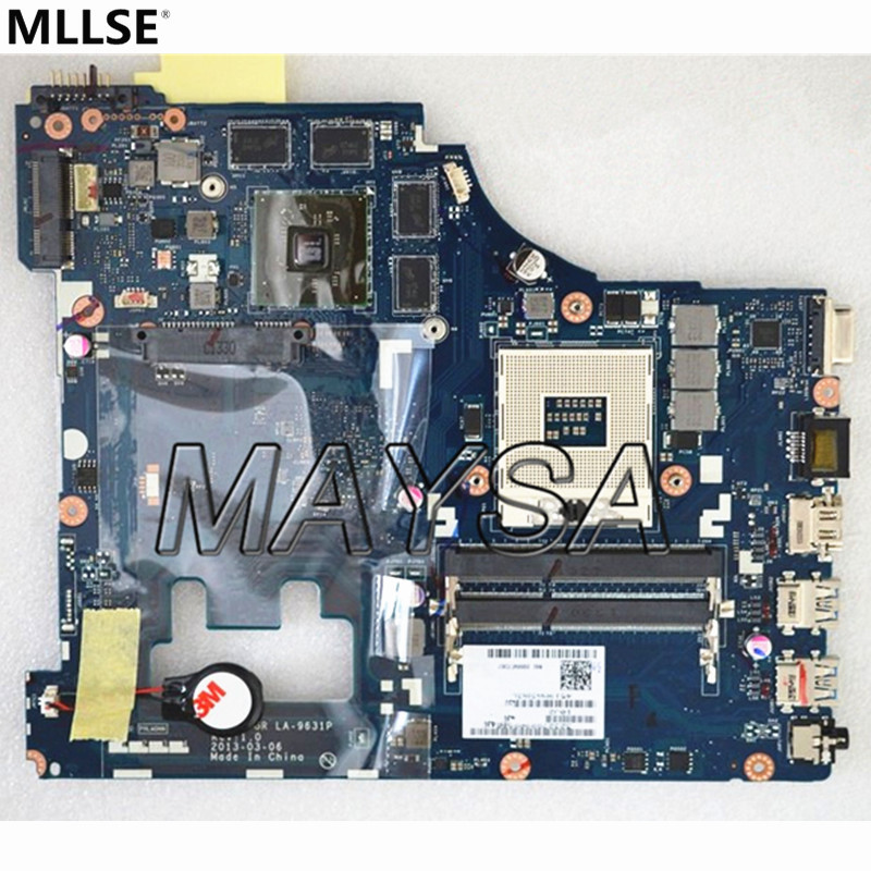 Hot IN RUSSIAN !  LA-9631P For Lenovo G500 laptop motherboard with 8 video memories, HM76 chipset hot for lenovo z500 laptop motherboard viwzi z2 la 9061p z500 2g video card with graphics card ev2a 100% tested