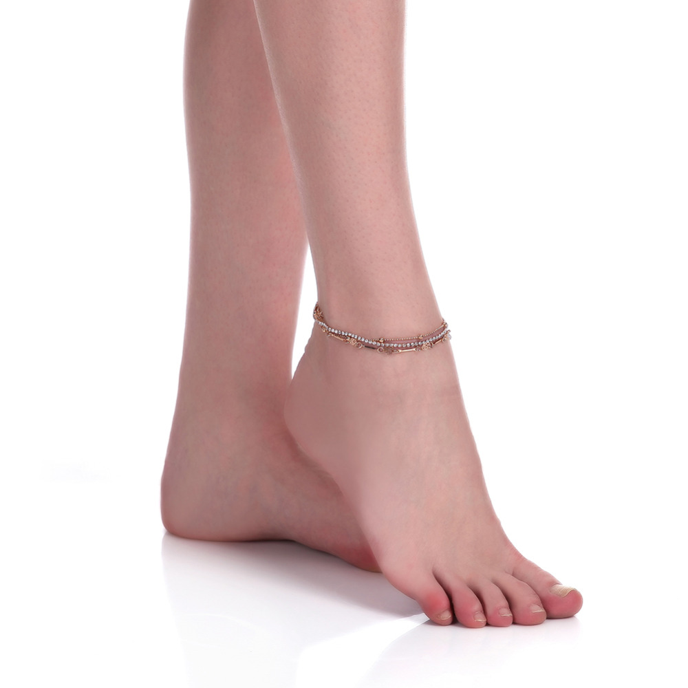 sale footwear anklets for bracelets anklet on jewelry string item cubic in from zirconia sales chain accessories ankle ladies trendy fatpig wholesale gifts alloy beads