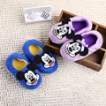 100%cotton children Slippers winter Cartoon minnie Slippers boys girls home shoes warm cute kids shoes  winter soft indoor shoes