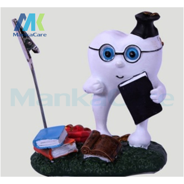Name Card Holder Teeth Handicraft Dentist Gift Resin Crafts Furnishing Articles Creative Gifts Dental Clinic Decoration