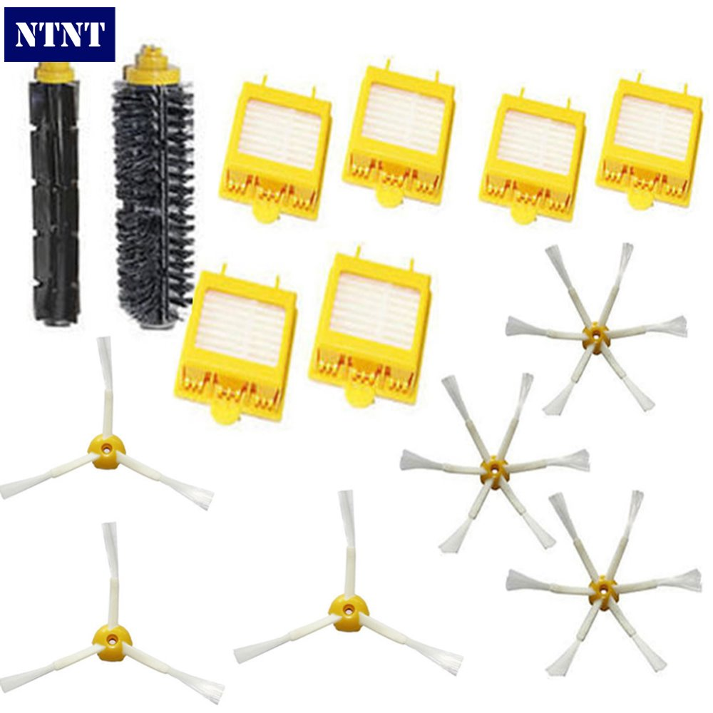 NTNT Free Post Shipping New Filters Brush 6-armed Side Kit For iRobot Roomba 700 Series 760 770 780 ntnt free shipping side brush filters 6 armed mini kit for irobot roomba 500 series