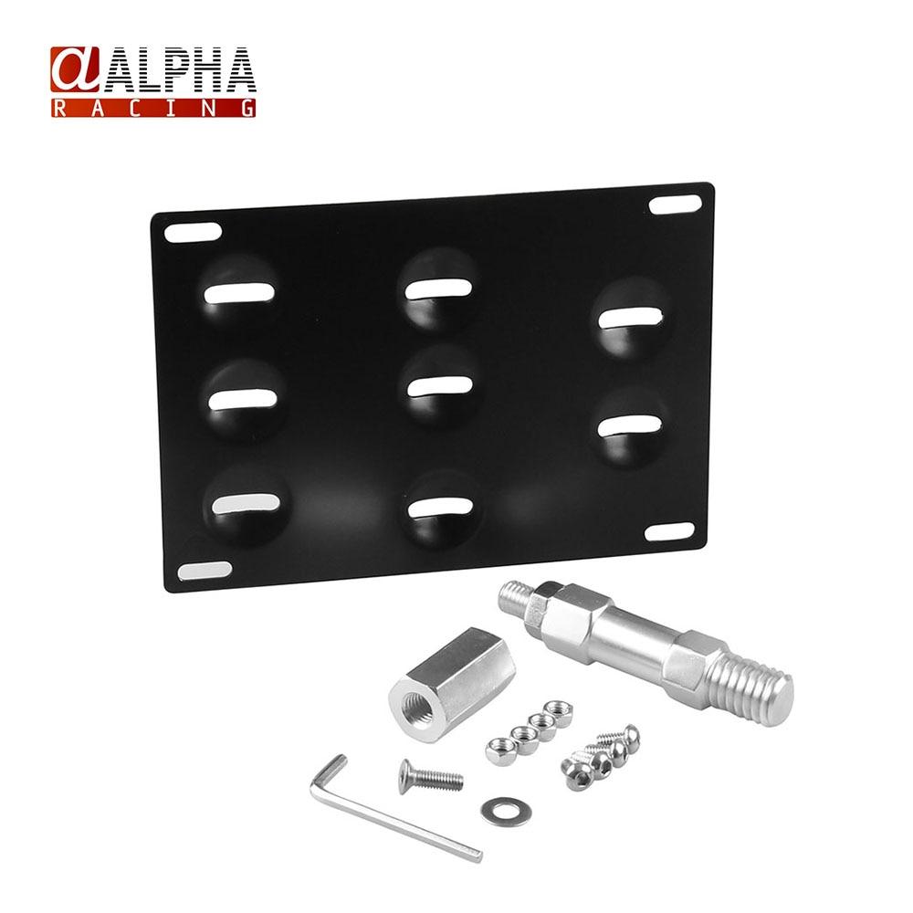 alpha license plate holder mount tow hook bracket license plate relocator frame for bmw mini cooper f10 f11 f25 f26 345 series