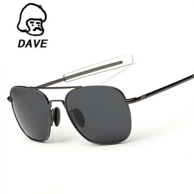 DAVE Polarized AO Sunglasses Men MILITARY American Optical Lens Aviation Pilot Sun Glasses Hot Ray Shades oculos de sol UV400 okulary wojskowe