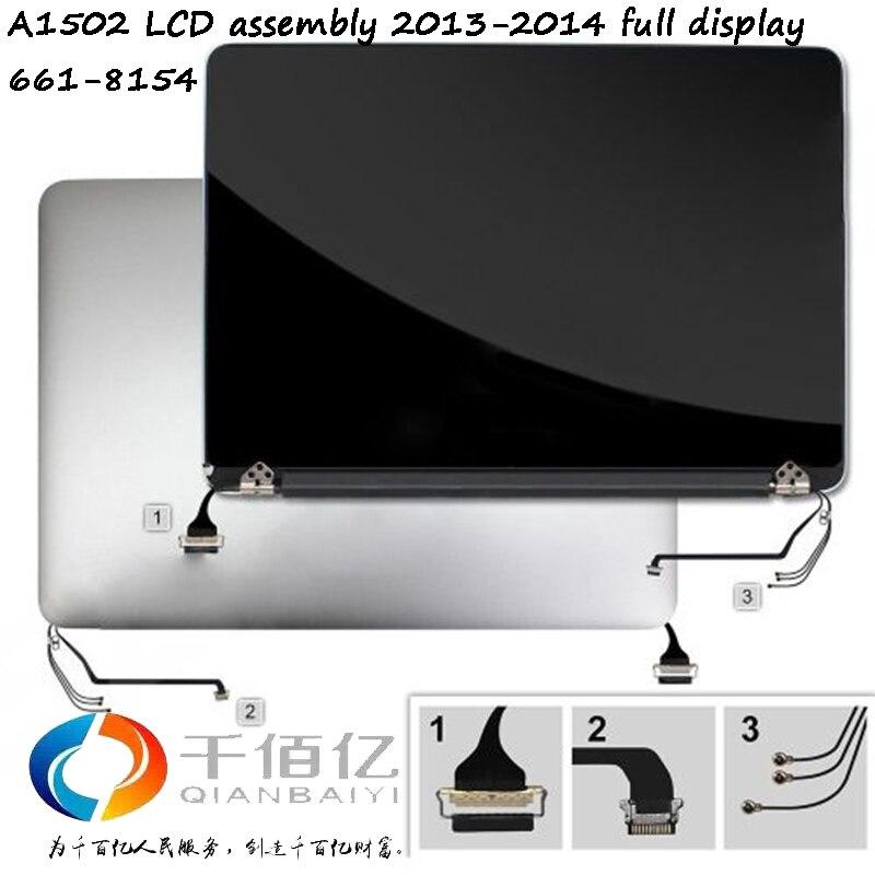 Montaje Original A1502 LCD 2013-2014 para Macbook pro retina 13 'pantalla completa 661-8154 probado