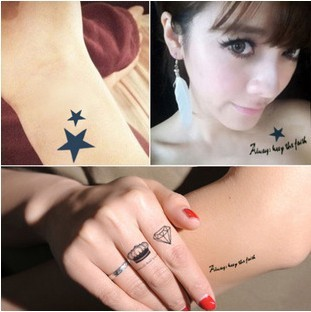 Women Korea Hot Waterproof Tattoo Sticker Personalized Fashion