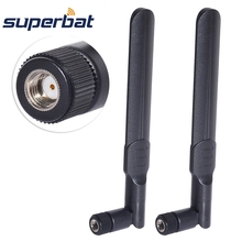 Superbat 2pcs 8dBi 2.4GHz 5GHz Dual Band Wireless Network WiFi Antenna RP-SMA Male Plug(Female pin) Connector