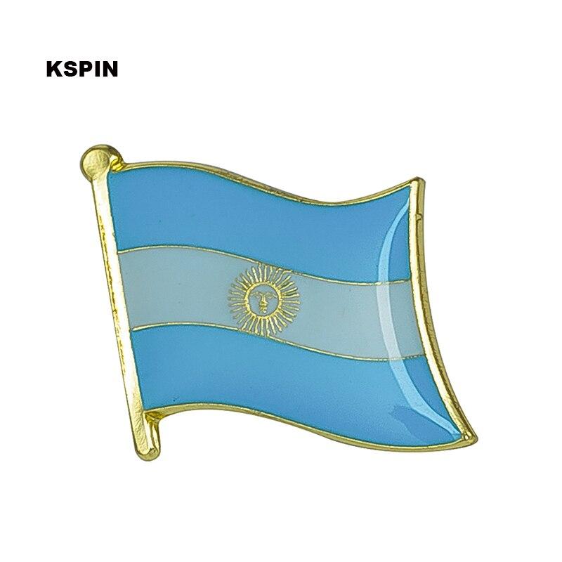 Argentina bandeira pin de lapela emblema do pino 10 pcs um lote Broche de  Ícones c562400c42943