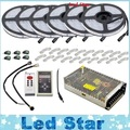 DC12V 5m 10m 20M 30m 150LED IP67 waterproof 6803 IC SMD 5050 RGB dream magic color LED Strip+133 Program RF controller