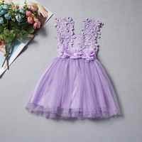 1Y 2Y New High Quality Baby Girls Party Lace Flower Gown Fancy Bridesmaid Dress Sundress Girls