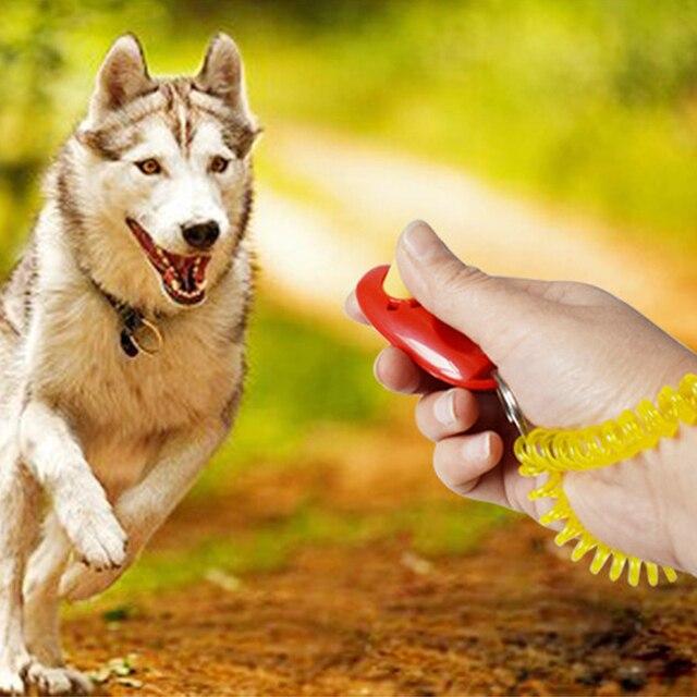 High Quality Ultrasonic Dog Training Whistle + Pet Training Clicker + Free Lanyard Set Pet Dog Trainings Products Supplies
