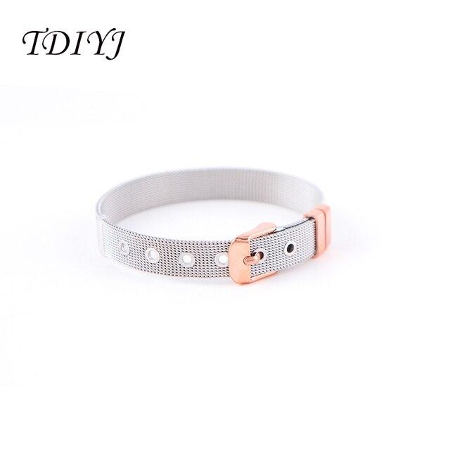 Фото женский сетчатый браслет tdiyj из нержавеющей стали diy keeper цена