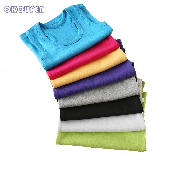 Baby Girls Tank Tops Candy Color Cotton Teenage Kids Vests Solid Children Tops Summer Toddlers Clothing 18M 24M 3 5 7 9 11 13 14