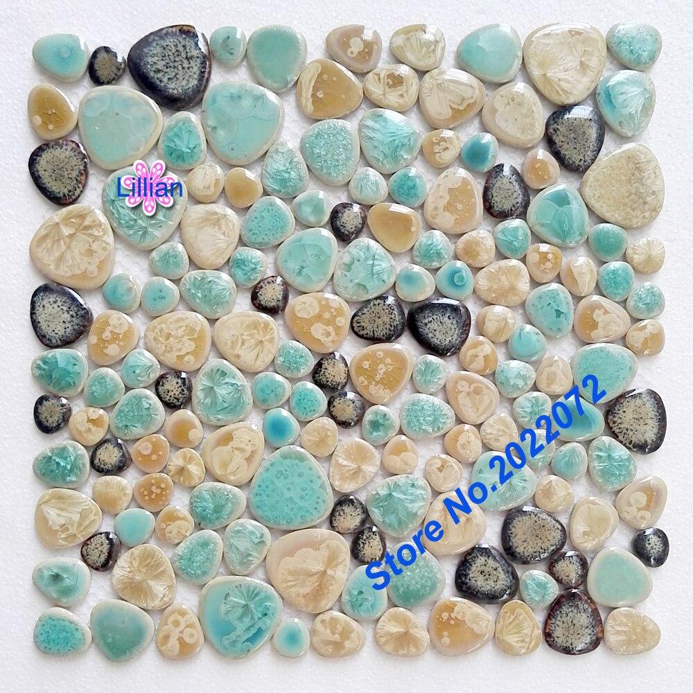 Craft mosaic tiles cheap - Porcelain Craft Pebbles Tiles Fambe Floor Nature G