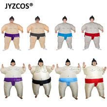 JYZCOS Fan Operated Inflatable Kids Sumo Suits Costume Sumo Wrestling Outfit Halloween Purim Blow Up Costume Party Christmas(China)