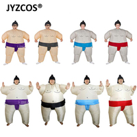 JYZCOS Fan Operated Inflatable Kids Sumo Suits Costume Sumo Wrestling Outfit Halloween Purim Blow Up Costume Party Christmas