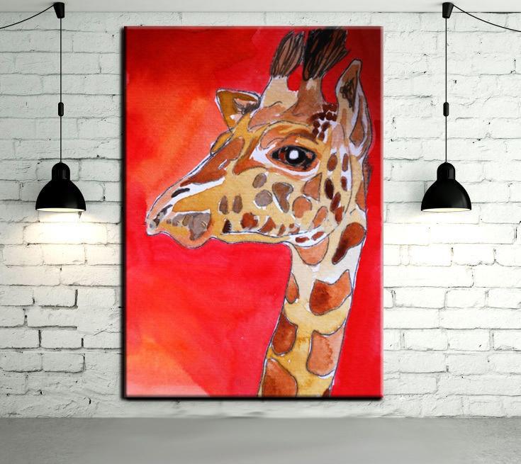 ⑥Animal abstracto moderno arte colgar cuadros pintado a mano ...