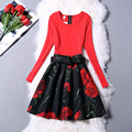 The new 2015 Autumn Brief Mini Dress Party Evening Elegant A-Line Long Sleeve Brief Party Dresses Women JN053
