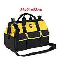 16 33x21x23cm Extra Large Electrician Tool Bag Hardware Tool Holder Belt 600D Oxford 20 Pockets Organizer