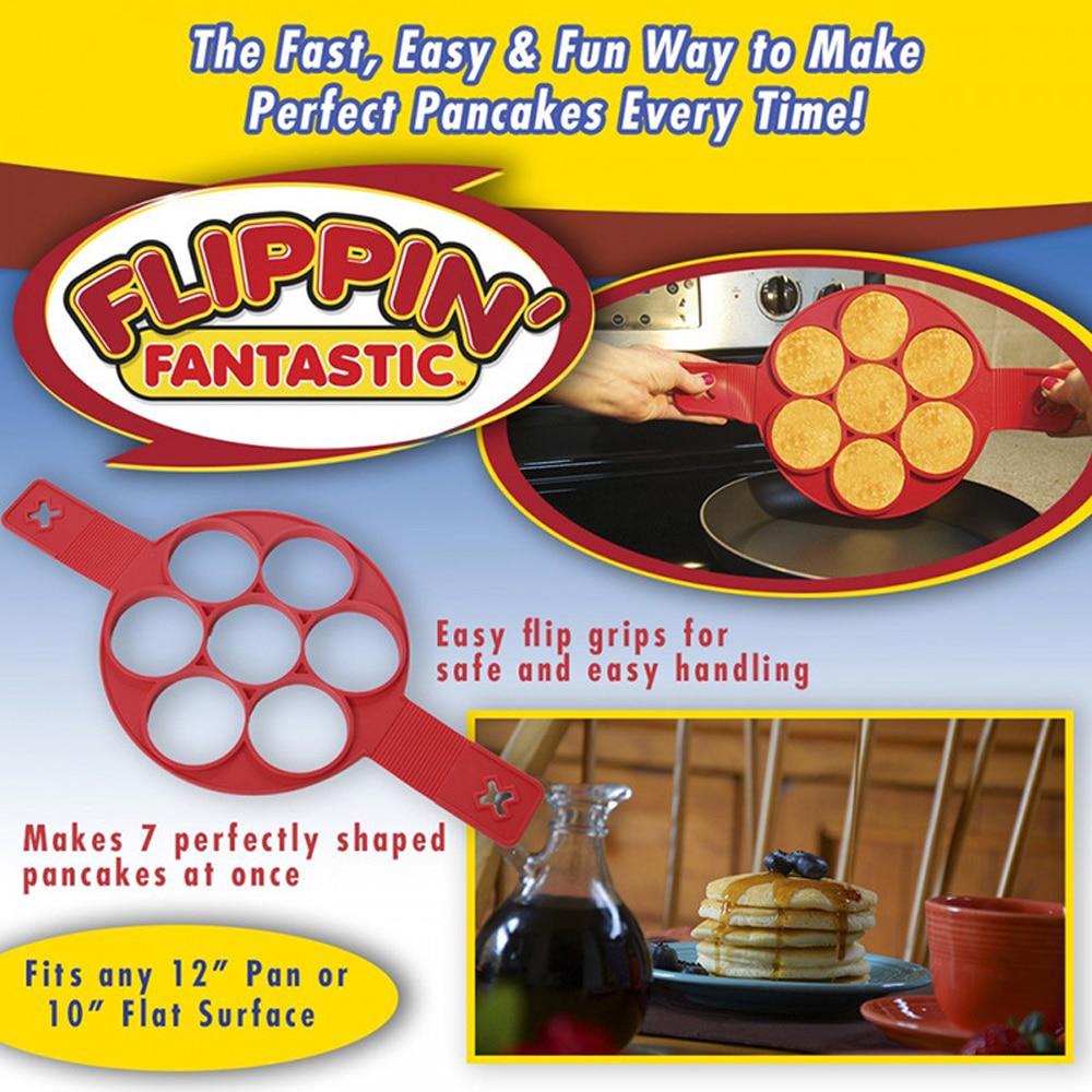 Flippin Non Stick Pancake Fantastic Fast /& Easy Way to Make Perfect Pancakes YU