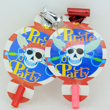 12PCS Pirate theme party birthday decoration blowout blow out cartoon pattern Party supplies festival