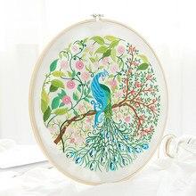 Pavão bonito Bordados Kits Needlework Cross Stitch Define Balanço Art Handmade Artesanato Handwork Pintura de Parede Decoração Home Gift