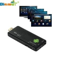 Precio de fábrica Quad Core Mini PC Android 4.4 Bluetooth HDMI WIFI Full1080P TV Box Dongle Smart TV Box dongle 3D Media Player nueva