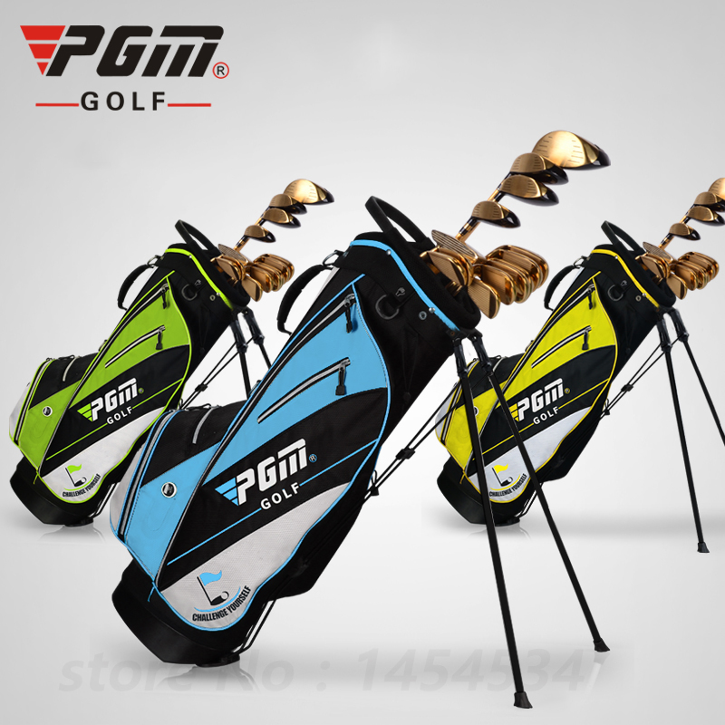 PGM Golf Standl Bag Golf Frame Bracket Gun Bag Lightweight Golf Rack Bag Cart Bag 14pcs Clubs Contained Holes Supper Portable simulation mini golf course display toy set with golf club ball flag